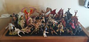 Papo Schleich Fantasy Figures Lot Knights Faries Dragons Lords Horses BIG