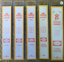 Lot of 5 Prinz Black Stamp Mounts Strip Sizes 22, 22, 22, 33, 36
