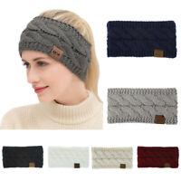 Usa Femmes Hiver Solide Couleur Laine Tricotée Bande de cheveux Sports Headband