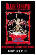 Black  Sabbath 1971 - Concert A3 VINTAGE BAND POSTERS Music Rock Old Advert #ob