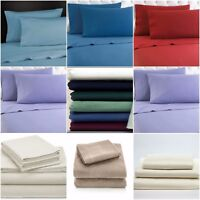 "100% Brushed Cotton Flannelette 40CM/16"" Extra Deep Fitted Sheets in  12 Colours"