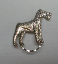 Airdale Standing Silver Spec Pin Detti Originals