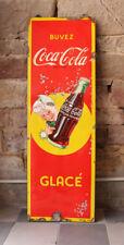 Grosses Coca Cola Emailschild ca. 140 cm hoch