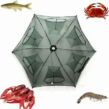 NEW Fishing Bait Trap Crab Net Crawdad Shrimp Cast Dip Cage Fish Minnow Foldable