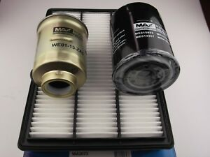 Mitsubishi Pajero filter kit oil,air,fuel suits NS,NT,NW with 3.2l 4M41 10/2006+