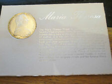 More details for austria silver maria theresia taler 1780 sf (restrike). very nice coin