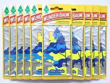(1,08€/Einheit) 10 Stück WUNDER-BAUM® Pina Colada Duft Lufterfrischer Duftbaum