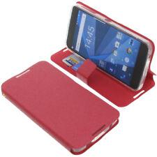 Tasche für Blackberry DTEK50 Book-Style Schutz Hülle Handytasche Buch Rot