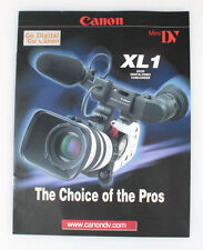Canon Xl 1 Camcorder Literature