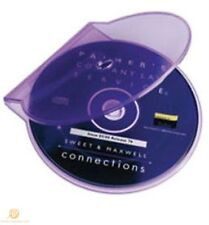 50 Clear Purple Clam Shell Plastic High Quality Single Case CD DVD Disk Storage