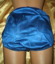 Sensationelles GLANZ Nylon Höschen XXXL BLAU Nylonslip Schlüpfer Panty Slip (K9)