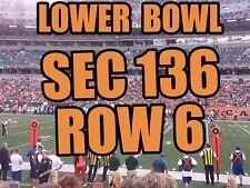 TWO (2) 6TH ROW, SEC 136 Cincinnati Bengals vs. Pittsburgh Steelers 12/1/19