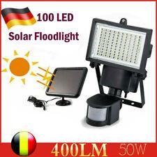 100 LED Solar Lampe Außenleuchte mit Bewegungsmelder Wandleuchte Strahler 400LM
