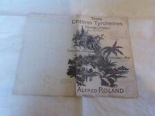 ALBERT ROLAND - Partition TYROLIENNE DES PYRENEES !!!