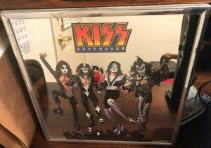 KISS Destroyer VINTAGE 1977 Carnival Framed Mirror 12X12