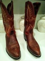 Tony Lama Brown leather Cowboy Western Boots For Men Size 13 D in Good Condition