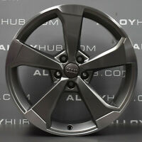 "GENUINE AUDI S3/RS3/A3 8V POLISH/GREY 5 SPOKE 19""INCH SINGLE ALLOY WHEEL X1"