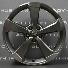 "GENUINE AUDI S3/RS3/A3 8V POLISH/GREY 5 SPOKE 19"" INCH FRONT ALLOY WHEEL X1"