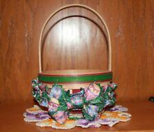 Longaberger 1999 Small Natural Easter Basket w/ Small Easter Garter