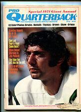 Pro Quarterback #8 1971 Giant ANNUAL Joe Namath Jim Plunkett John Brodie MBX16
