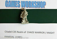 Games Workshop Citadel C35 PANEDAL Knight '85 Realm of Chaos Warrior UNPAINTED