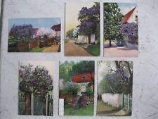 Blühende Bäume Lot 6 Ansichtskarten ab 1906 Kunst Photochromie