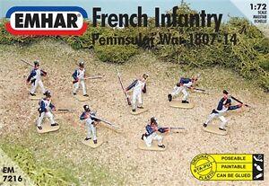 Emhar 1/72 French Infantry Peninsular War - Napoleonic # 7216