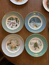 vintage avon christmas plates Set Of 4, 1975-1978