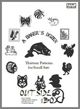 A Baker's Dozen; 13 Patterns for Scroll Saw. 8 1/2 x 11 Book by OTB Patterns.