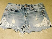 "Silver jeans ""AIKO Mid Short"" super stretch  Women's denim Shorts W25 L3"