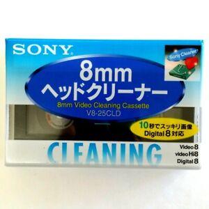 SONY 8mm Head Cleaner V8-25CLD for Video 8 Hi8 Digital 8