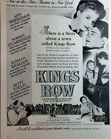 Lot of 5 Vintage Warner Bros Movie Ads Reagan Bogart Temple Stewart