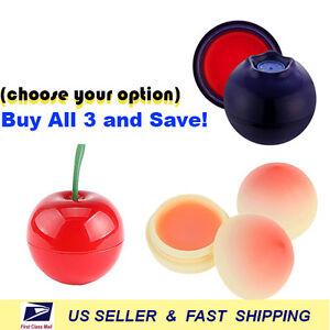 [ TONY MOLY ] Mini Berry Lip Balm (Choose Cherry, Peach, Blueberry)