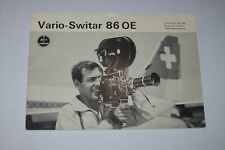 INSTRUCTIONS MANUAL FOR KERN PAILLARD VARIO-SWITAR 86 OE LENS IN 3 LANGUAGES