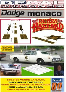 DECAL DODGE MONACO DUKES OF HAZZARD ROCO`S POLICE (06)