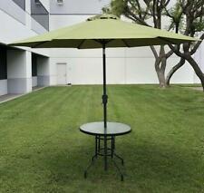 Outdoor Patio Umbrella 9FT Sun Shade Beach Yard Garden Crank Tilt Yard 8 ribs