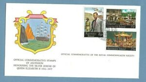 1977 ASCENSION ISLAND ROYAL COMMONWEALTH SOCIETY FDC