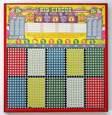 BIG CIRCUS CLOWN Vintage UNPUNCHED Gambling Trade Stimulator PUNCH BOARD Game