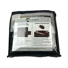 "Sofa Shield Reversible Furniture Protector Loveseat Black Gray 54"" Seat Width"