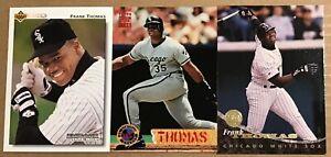 FRANK THOMAS 3 CARD LOT—LEAF 1994…STADIUM CLUB 1994…UPPER DECK 1992-–WHITE SOX