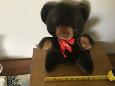 "12"" Tall Plush Russ Berrie & Co. Stuffed Bear: Made in Korea"
