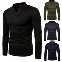 Men Thermal Underwear Long Sleeve Top Ski Warm Winter T Shirt Pullover Tee Tops