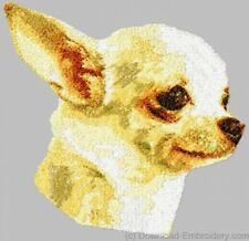 Large Embroidered Zippered Tote - Chihuahua DLE1508