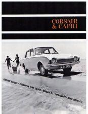Ford Consul Corsair & Classic Capri 1500 1963-64 UK Market Foldout Brochure