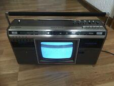 Museums-Objekt. Philips TC-10S Bj. 1983 Ghettoblaster mit TV Boombox