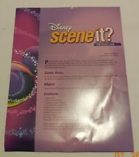 Scene it Disney Edition DVD Board Game Replacement Instructions