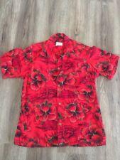 1960s Women's Or Children's Styles Of Hawaii Hawaiian Shirt Red Volcanoes Surfer