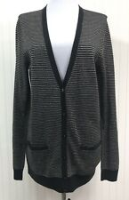Ann Taylor NWT Women's Large Button Down Cardigan Sweater Lightweight Striped