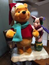 Winnie The Pooh & Piglet  Animated & Illuminated Christmas Decor
