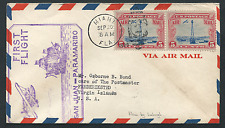 VIRGIN ISLANDS: (15129) First Flight Miami to Frederiksted/FFC cover